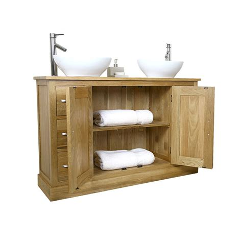 50 sink vanity unit with oak bathroom cabinet