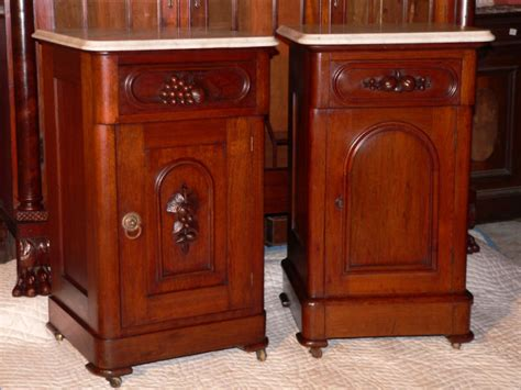 Antique Nightstands With Marble Top by C1870 Nightstand Walnut Wh Marble Top Grape