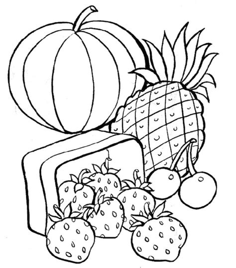 Healthy Food Coloring Pages Coloring Home Snack Coloring Pages