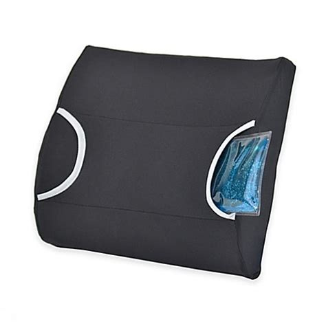 lumbar pillow for bed buy contour warm cool lumbar support pillow in black from
