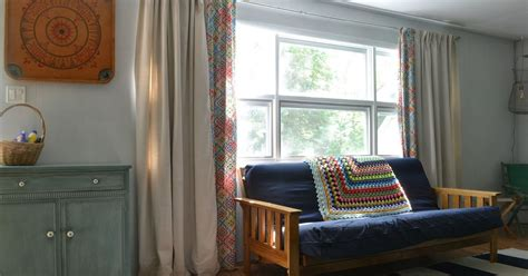 cheap curtains for large windows diy lined drop cloth curtains modified for large windows