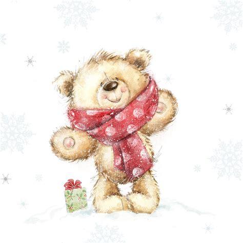 cute teddy bear   gift christmas greeting card merry christmas  year stock