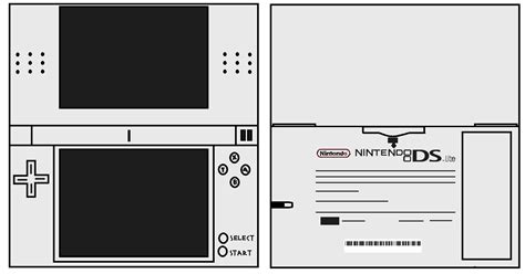 Papercraft Ds - ds lite white nintendofan12 s papercraft things photo