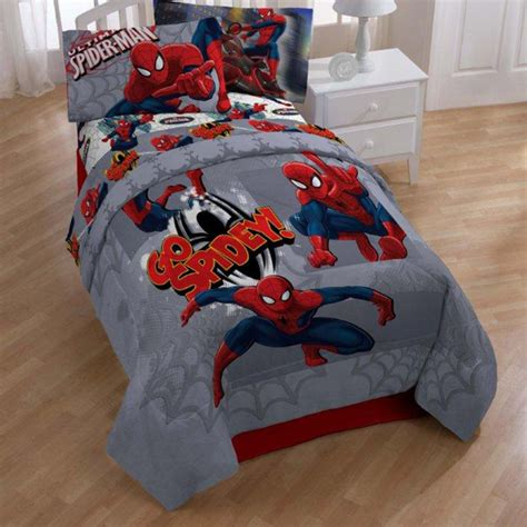 spiderman bedding set spiderman bedding set for teen boys room decor craze