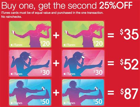 Itunes Gift Card Sale Australia - itunes gift cards buy one get the second 25 off at target ibrothers