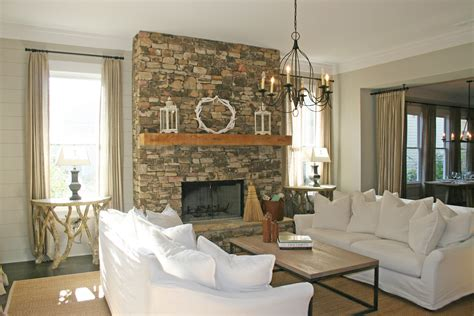 decoration build a country stacked fireplace