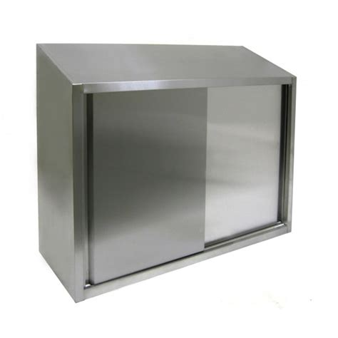 all stainless wall cabinet with sliding doors 15x36