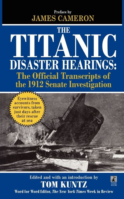 the unsinkable titanic the triumph a disaster books the titanic disaster hearings book by tom kuntz