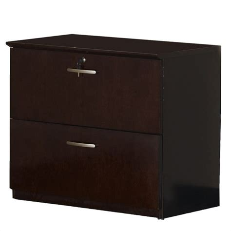 Lateral File Cabinet With Storage Filing Cabinet Office File Storage 2 Drawer Lateral Wood In Mahogany Ebay