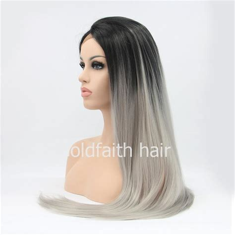 cheap haircuts sf sf2 cheap long ombre synthetic hair grey wig straight lace