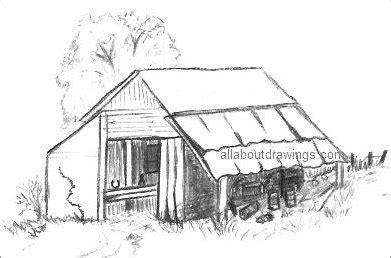scheune zeichnen characteristic barn drawing
