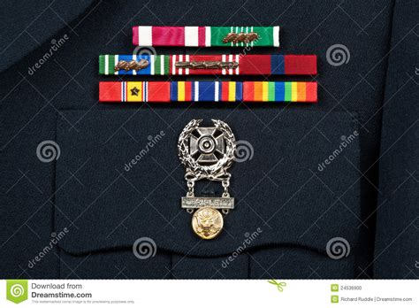 Asu Awards And Decorations Measurements by Decorations On Dress Stock Photo Image