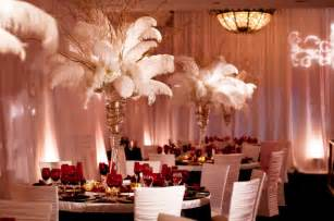 feather table centerpieces ostrich feather centerpieces wedding reception decorations