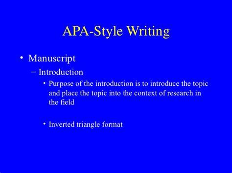 apa format introduction using apa format