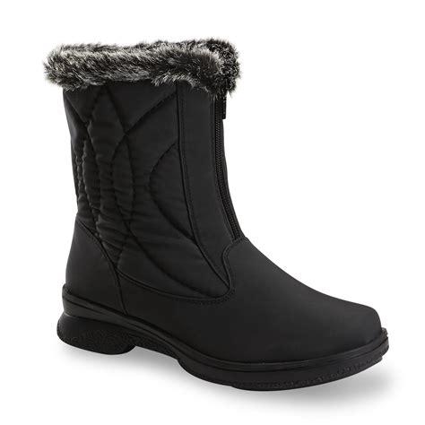 athletech s quest 8 quot black winter boot medium and