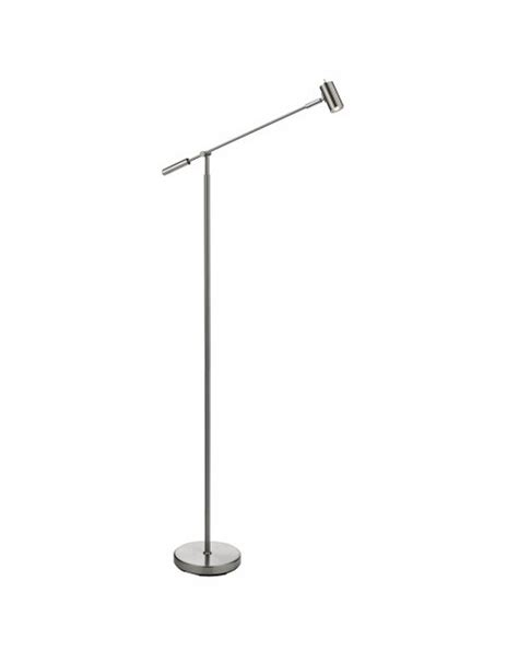 floor standing led reading ls uk searchlight 5621ss led partners 1 light in brushed silver