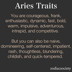 aries traits aries pinterest