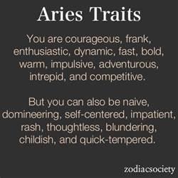 aries traits aries pinterest