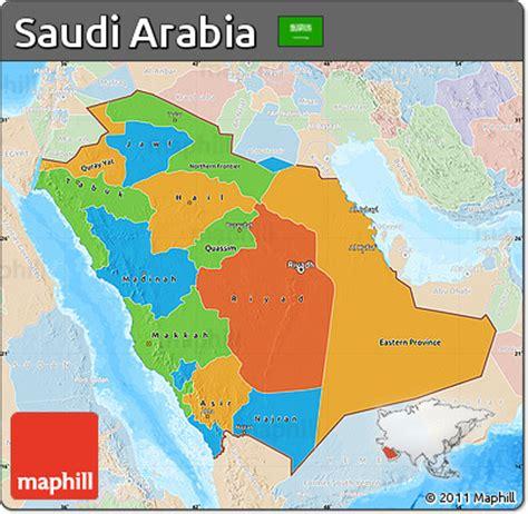 political map of saudi arabia free political map of saudi arabia lighten land only