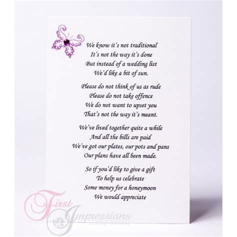 Wedding Invite Present Wording by Wedding Invitation Wording Money Instead Of Gifts