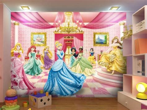disney wallpaper home decor photo wallpaper disney princess ballroom wall mural design