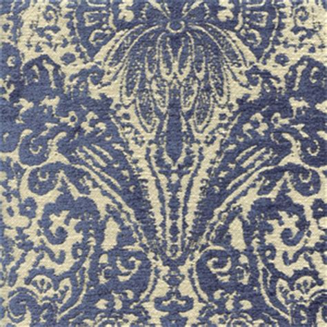 Cheap Upholstery Fabric By The Yard by Gilsey Blue Chenille Paisley Upholstery Fabric By Swavelle