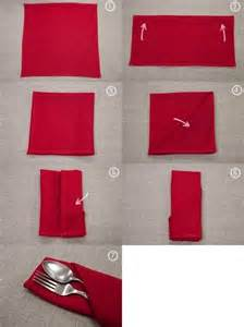 Simple Paper Napkin Folding - 25 tutorials for how to fold napkins food