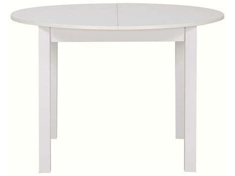 table ronde cuisine conforama table ronde avec allonge 160 cm max coloris blanc