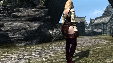 skyrim cbbe hdt clothing hdt clothes skyrim field mage outfit by echo 1162 unp hdt
