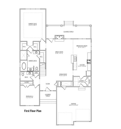great room floor plans floor plan great room