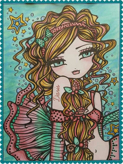 libro mermaids fairies other mermaids fairies and other girls of whimsy colored by daris daris colored pages