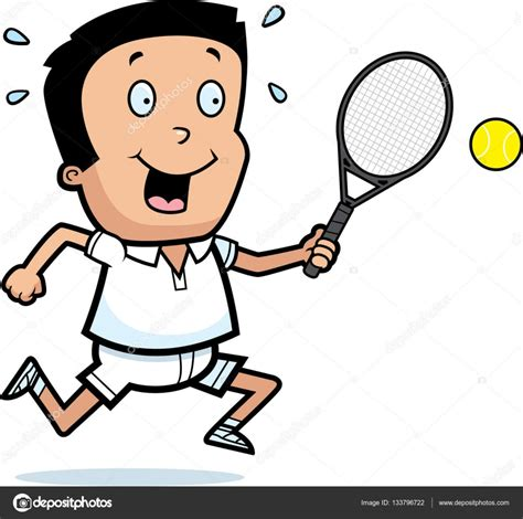 dibujos de niños jugando tenis dibujos animados ni 241 o tenis vector de stock 169 cthoman