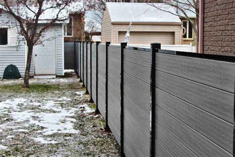 composite fencing ezfence composite board  aluminium