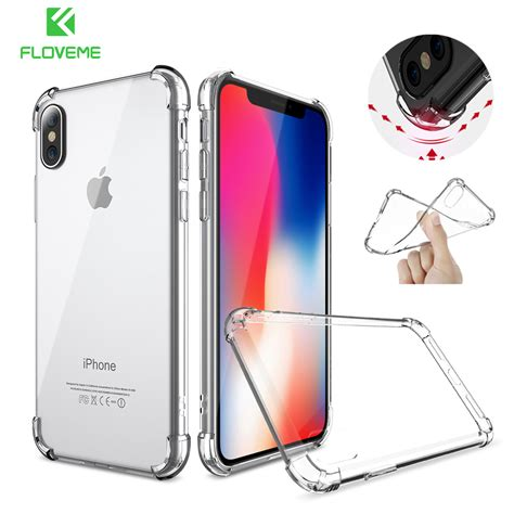 Anti Iphone 6 6s 6 Plus 6s Plus floveme shockproof for iphone 8 plus 6 6s transparent anti knock cover for iphone x