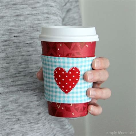 I Heart Coffee Cozy Tutorial With Printable Simply Notable Coffee Cozy Template