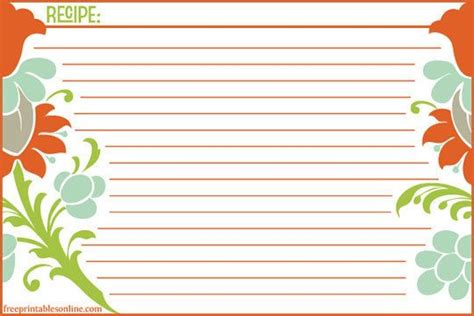 printable recipe card templates martha stewart 17 best images about family cookbook project on