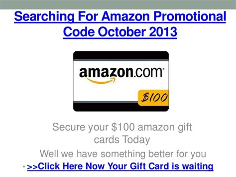 Gift Card Or Promotional Code For Amazon - amazon promotional code october 2013