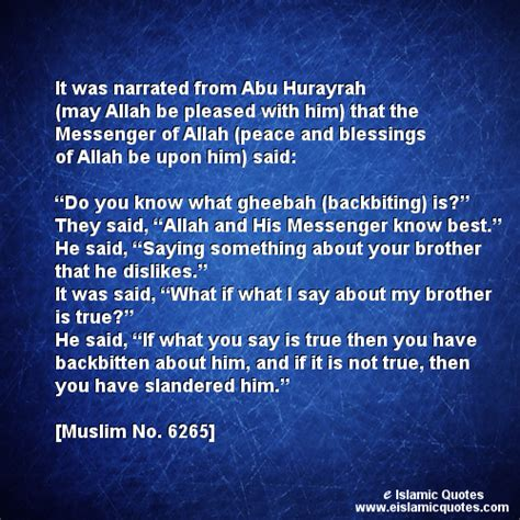 Quotes About Backbiting In Islam