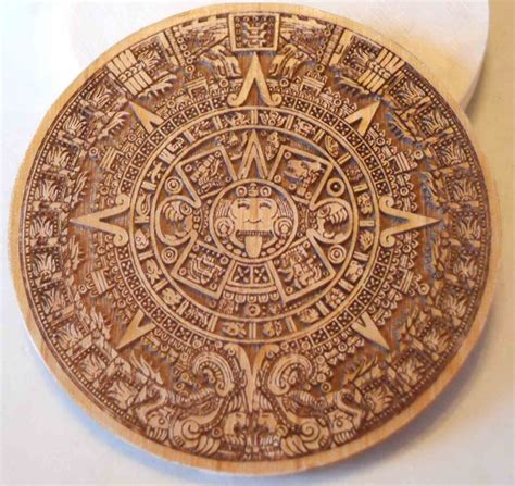 aztec pewter coin from laser etched template pewter