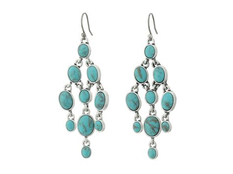Turquoise Chandelier Earrings Lucky Brand Turquoise Chandelier Earrings In Metallic Lyst