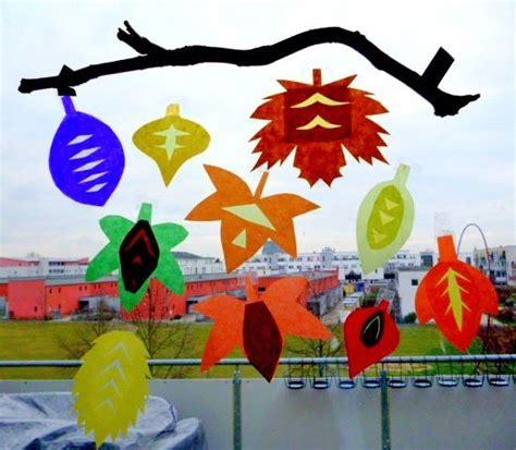 Herbstdeko Fenster Transparentpapier by Bild 12 Bastelideen F 252 R Den Herbst Bl 228 Tter Fensterbild