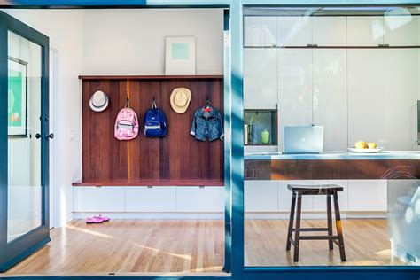 Eclectic Kitchen Ideas coat rack bench entry contemporary with clothes storage