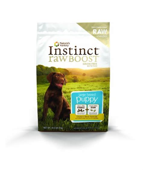 puppy boost nature s variety instinct boost large breed puppy 20 lbs