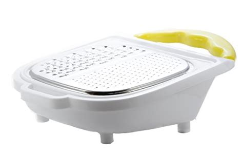 Veggeti Vegetable Grater With Storage Box cheese and vegetable grater with storage container has coarse grating surfaces for