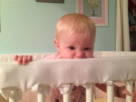 Baby Chewing On Crib Best 25 Crib Rail Guard Ideas On Crib Teething Guard Crib Protector And Rail Covers