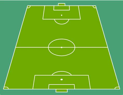 football drawing template design a soccer football field football pitch metric