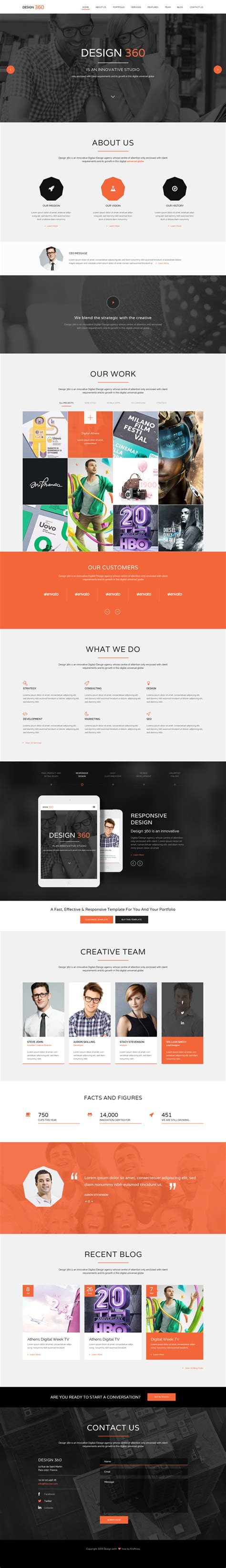 html5 one page website templates with ui ux experience