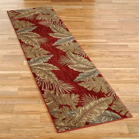 tropical rugs pet friendly sarasota tropical leaf rug runner