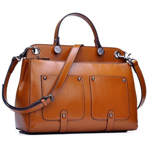 leder braun damen handtasche leder braun blau schwarz umh 228 ngetasche