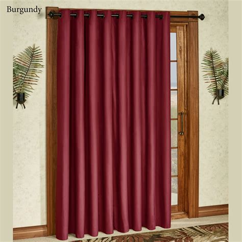 paramount curtain store paramount solid color thermal grommet patio panel